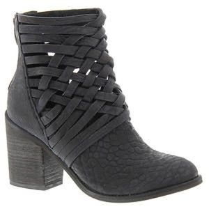 Woven leather free people booties